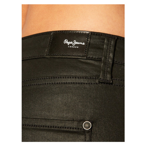 Pepe Jeans Spodnie skórzane Regent PL200398 Czarny Regular Fit