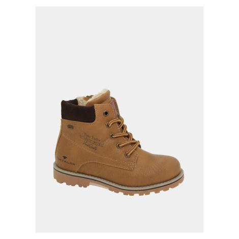 Brązowe dziecięce buty zimowe Tom Tailor