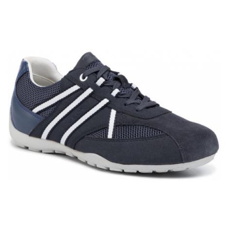 Geox Sneakersy U Ravex C U023FC 0AU14 C4KF4 Granatowy