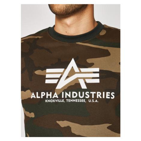 Alpha Industries Bluza Basic 178302C Zielony Regular Fit