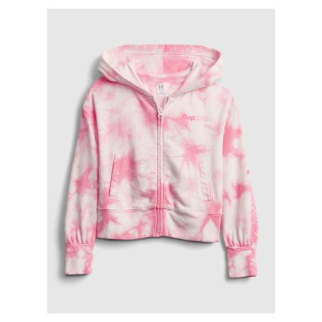 GAP różowa bluza dziecięca Logo fz