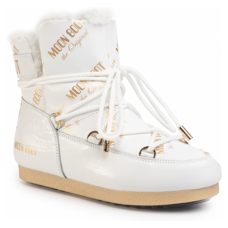Śniegowce MOON BOOT - Mb Far Side 50 All Over 24201700001 White/Gold