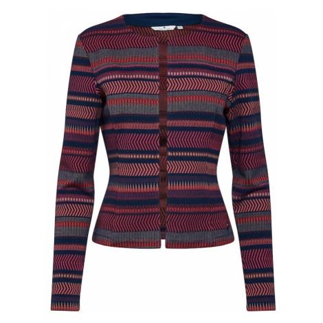 TOM TAILOR Marynkarka 'colorful jaquard Blazer 1/1' atramentowy / czerwony