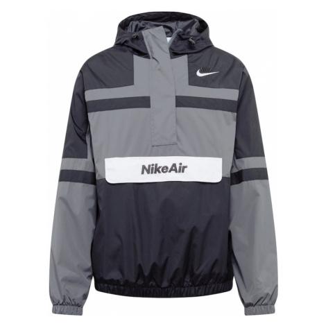 Nike Sportswear Kurtka przejściowa ciemnoszary / czarny
