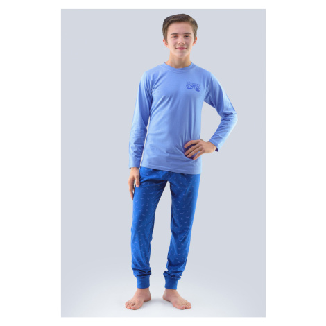 Chłopięca piżama Atlantic jasnoniebieska Gina