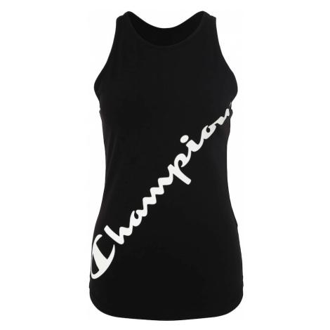 Champion Authentic Athletic Apparel Top sportowy czarny / biały
