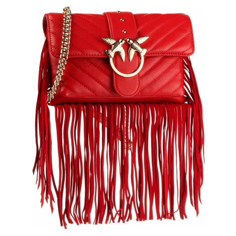 Torebka PINKO - Love Mini Soft Fringes Cl PE 20 PLTT 1P21PM Y675 Red R24