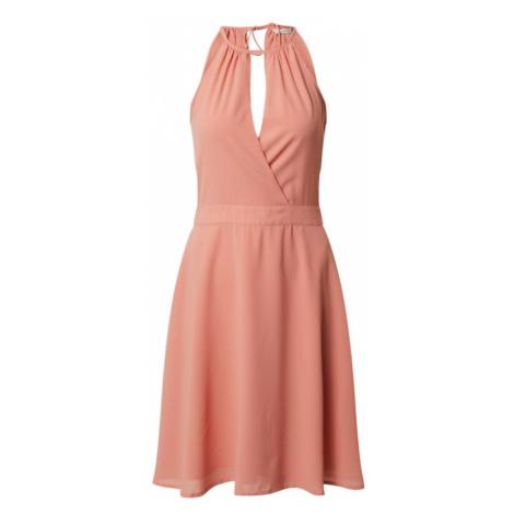 ONLY Sukienka koktajlowa 'ONLCHARLENE S/L ABOVE KNEE DRESS WVN' różowy pudrowy