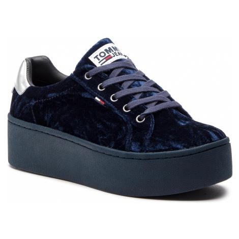 Sneakersy TOMMY JEANS - Crush Velvet Sneaker EN0EN00506 Midnight 403 Tommy Hilfiger