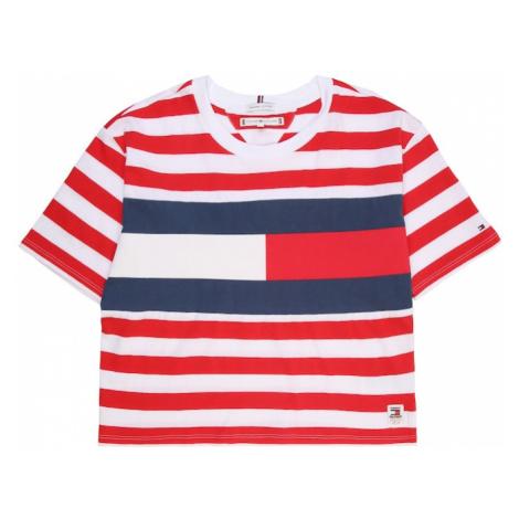 TOMMY HILFIGER Koszulka 'STRIPE FLAG TEE' biały / czerwony