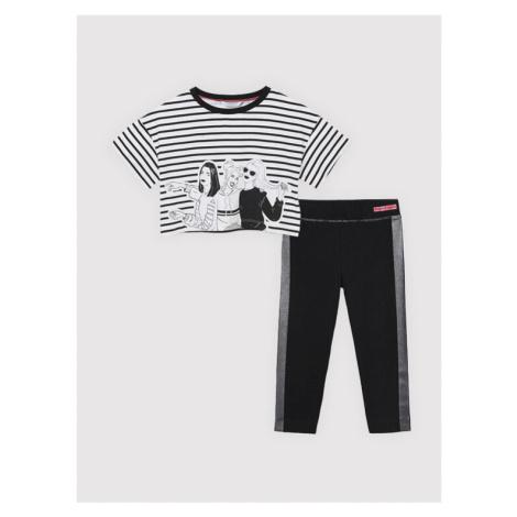 Mayoral Komplet t-shirt i legginsy 6731 Czarny Regular Fit
