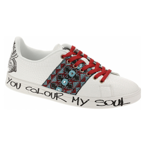 buty Desigual 19SSKP12/Cosmic Exotic Tropical - 1000/Blanco