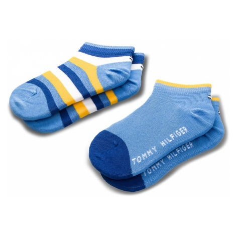 Zestaw 2 par niskich skarpet dziecięcych TOMMY HILFIGER - 354010001 Yellow/Blue