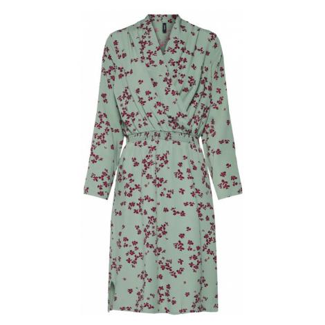 VERO MODA Sukienka pastelowy zielony / bakłażan / czerwony