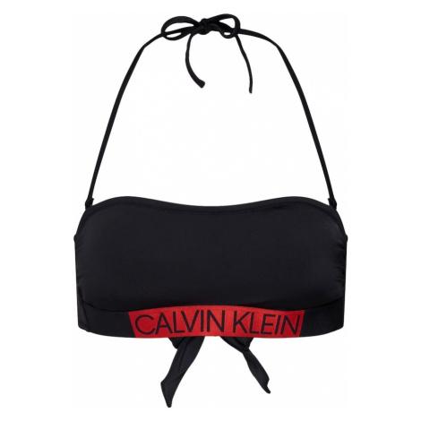 Calvin Klein Swimwear Góra bikini 'BANDEAU-RP' czerwony / czarny