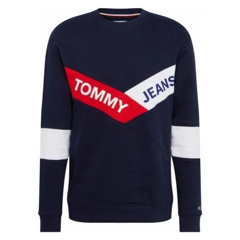 Tommy Jeans Bluzka sportowa 'TJM CHEVRON CREW' ciemny niebieski / czerwony / biały Tommy Hilfiger