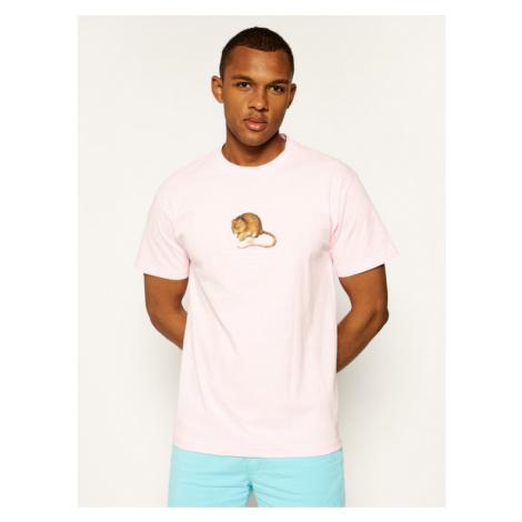 HUF T-Shirt Rat Race TS01016 Różowy Regular Fit