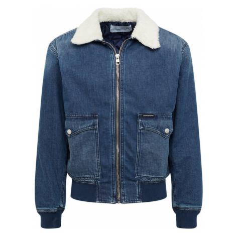 Calvin Klein Jeans Kurtka przejściowa 'WESTERN BOMBER' niebieski denim