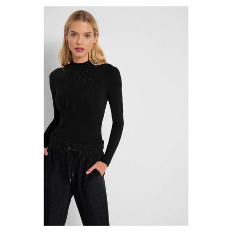 Wiskozowy sweter z kryształkami Orsay