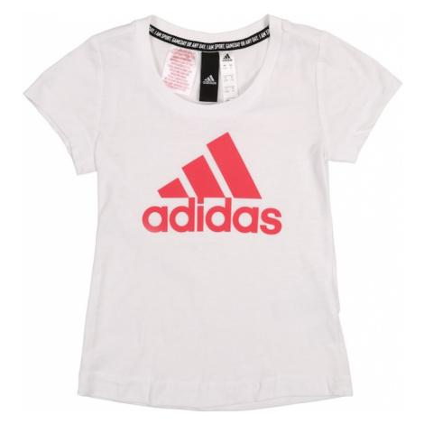 ADIDAS PERFORMANCE Koszulka funkcyjna 'YG MH BOS TEE' różowy / biały