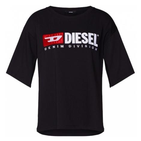 DIESEL Koszulka 'T-Jacky-D' czarny / biały