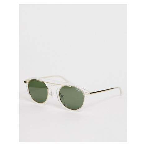 Quay Australia Phoenix round sunglasses in white