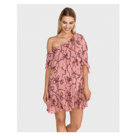 Pinko Agave Sukienka Różowy Beżowy