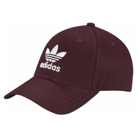 czapka z daszkiem adidas Originals Baseball Classic Trefoil - Maroon/White