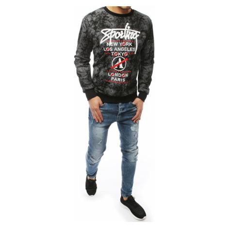 Czarna męska bluza bez kaptura BX4440 DStreet