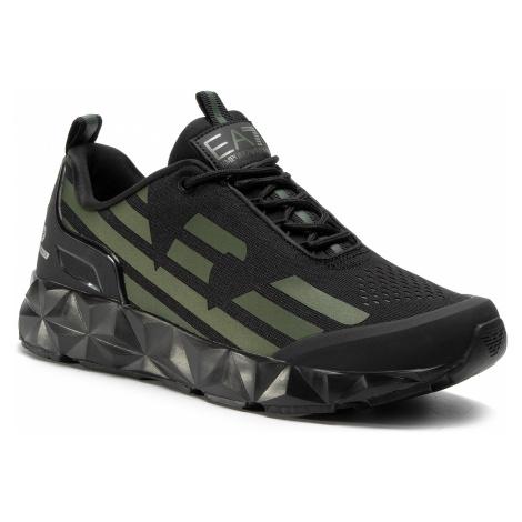 Sneakersy EA7 EMPORIO ARMANI - X8X033 XCC52 N130 Black/Black/Grape Le