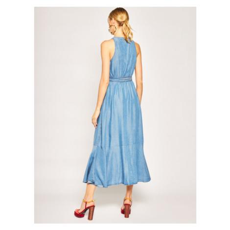 My Twin Sukienka jeansowa 201MT2194 Niebieski Loose Fit