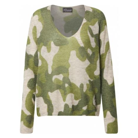 PRINCESS GOES HOLLYWOOD Sweter zielony / beżowy / ciemnozielony