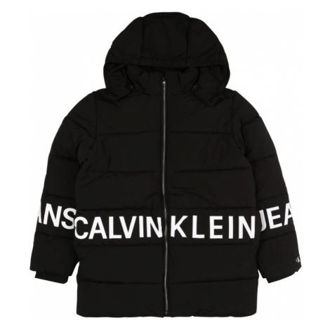 Calvin Klein Jeans Kurtka zimowa czarny / biały