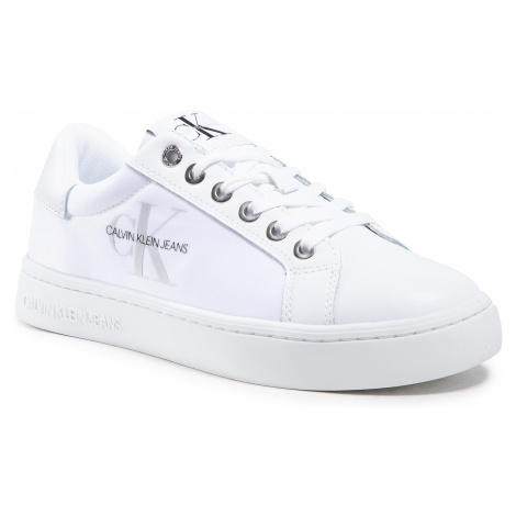 Sneakersy CALVIN KLEIN JEANS - Cupsole Sneaker Laceup Pu-Ny YW0YW00060 Bright White YAF