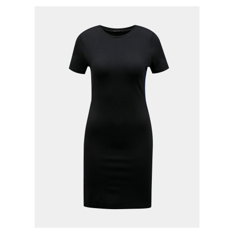 Czarna sukienka z płaszcza z jagnięciną TALLY WEiJL