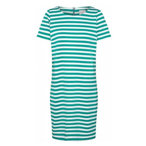 VILA Sukienka 'Tinny New' zielony / biały