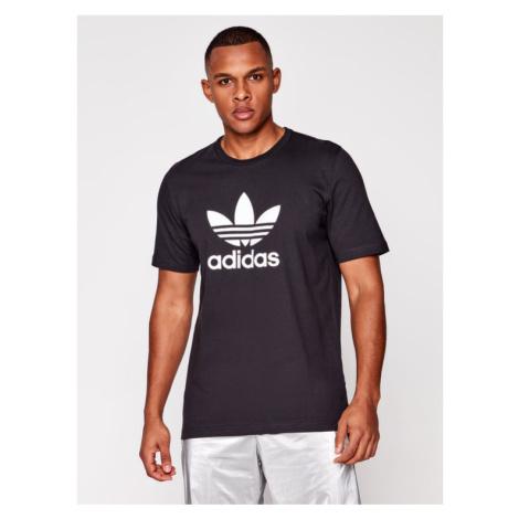 Adidas T-Shirt Trefoil GN3462 Czarny Regular Fit