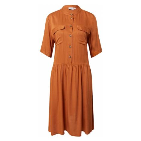 SAINT TROPEZ Sukienka koszulowa 'Baile' rdzawobrązowy