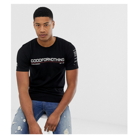 Good For Nothing t-shirt in black with chest logo
