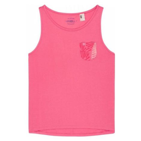 O'Neill LG POCKET TANKTOP różowy 140 - Koszulka dziewczęca