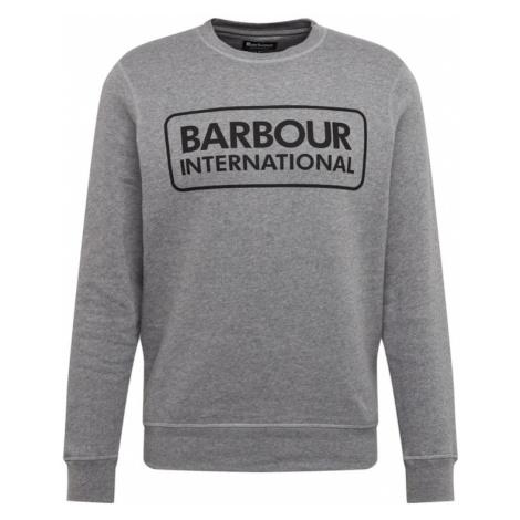 Barbour International Bluzka sportowa nakrapiany szary / czarny
