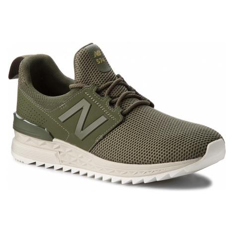 Sneakersy NEW BALANCE - MS574DUO Zielony