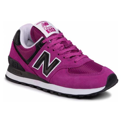 Sneakersy NEW BALANCE - WL574LBC Fioletowy