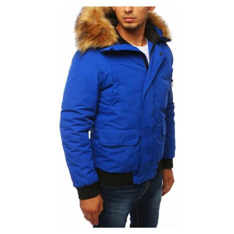 Niebieska męska kurtka zimowa TX2871 DStreet