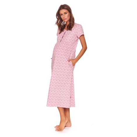Koszulka ciążowa i do karmienia Karen różowa