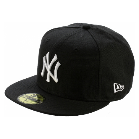 czapka z daszkiem New Era 59F League Basic MLB New York Yankees - Black/White Logo