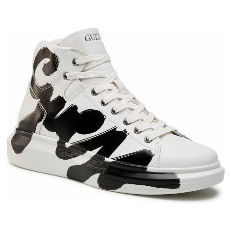 Sneakersy GUESS - Salerno Mid FM5SLM LEA12 WHITE
