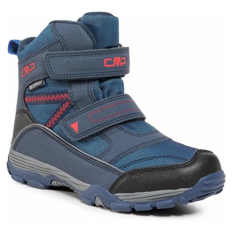Śniegowce CMP - Kids Pyry Snow Boot Wp 38Q4514J Black Blue N950