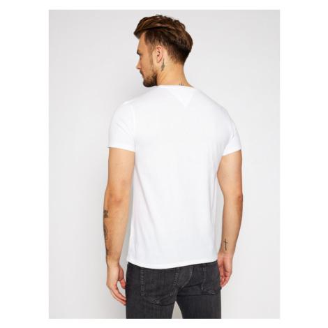 Tommy Jeans T-Shirt DM0DM04411 Biały Regular Fit Tommy Hilfiger