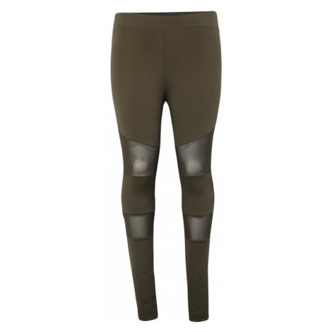 Urban Classics Legginsy 'Ladies Tech Mesh Legging' oliwkowy